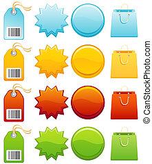 Label - Colourful label icon set