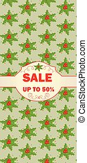 Label for christmas sale
