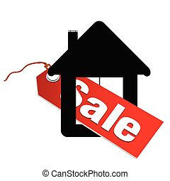 label for sale house vector illustration
