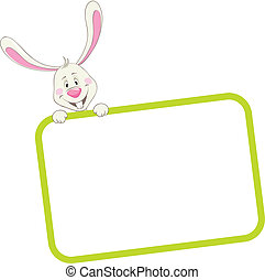 Label frame rabbit