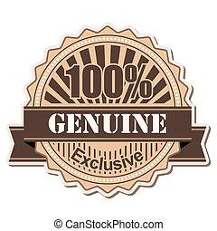 label Genuine