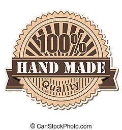 label Hand Made