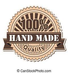 label Hand Made; vintage style design