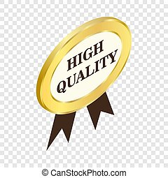 Label high quality isometric icon