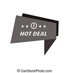 Label Hot Deal black color
