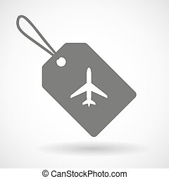 Label icon with a plane
