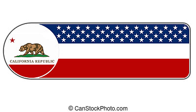 Label icon with the flag of the US State of California