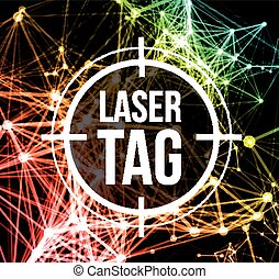 label, laser, doel