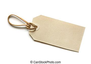 label, leeg, elastische band