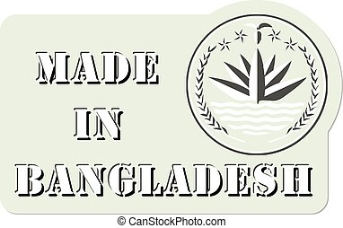 Label Made in Bangladesh