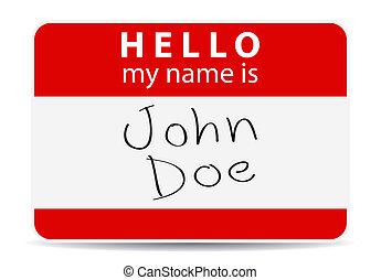 label, mijn, naam, rood