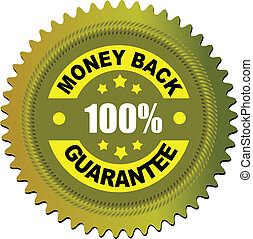 Label money back guarantee. Vector illustration for...