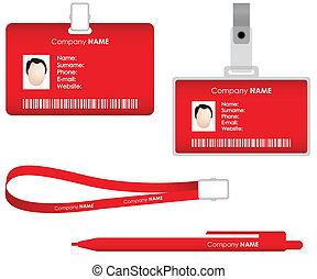 label, naam, kaart, identificatie