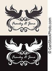 Label name wedding invitation, art vector design