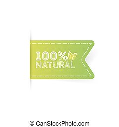 Label Natural product, organic, healthy food.