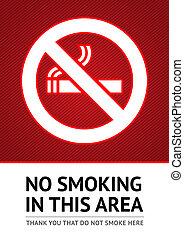 Label No smoking sticker