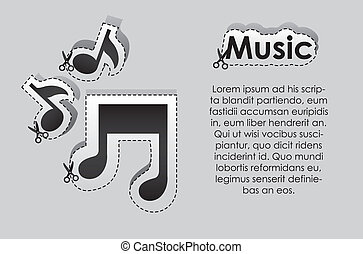 Label of musical notes