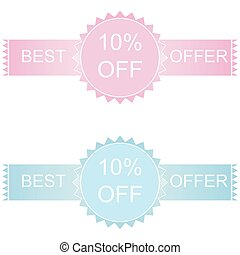 Label or sticker discount 10 percent off