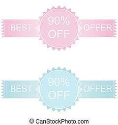 Label or sticker discount 90 percent off