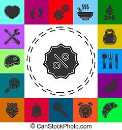 label percent icon. sale discount illustration - graphic price label
