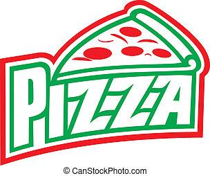 label), (pizzeria, tervezés, pizza, címke
