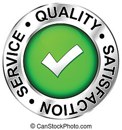 Quality, satisfaction, service - Label Quality, satisfaction...