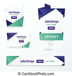 Label, Ribbon Origami, 2 color
