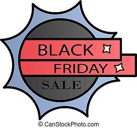Label, sale, black friday color gradient vector icon