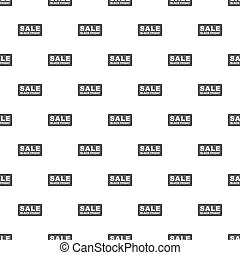 Label sale black friday pattern, cartoon style