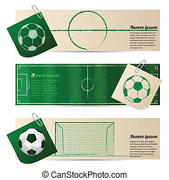 Label set of three with soccer elements