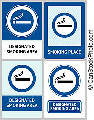 Label set Smoking area