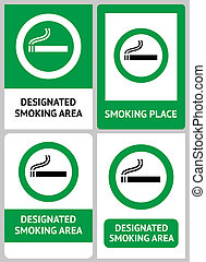 Label set Smoking place