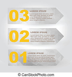 Label set with infographic steps