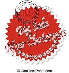 big sale after christmas