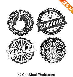 Label stitch sticker tag guarantee - Vector illustration - EPS10