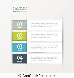 label template  Green, blue, gray color