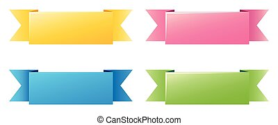 Label template with four different colors