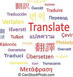 label, translate., bubble:, toespraak, of, wolk