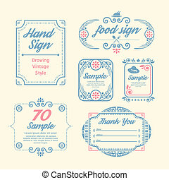 Label Vintage Design Labels infographic template / can be...