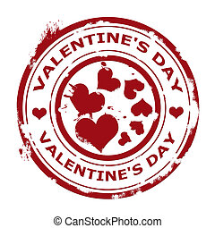 label whit text valentin's day vector illustration