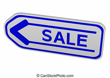 Label with arrow with word sale