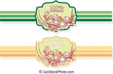 label with floral pattern