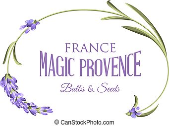 Label with lavender.