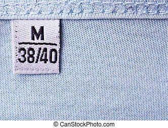 Label with M size