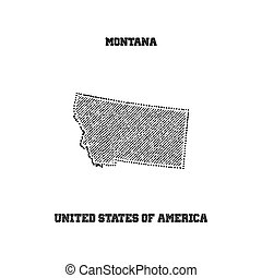 Label with map of montana.