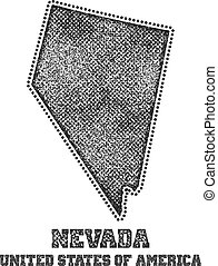 Label with map of nevada.