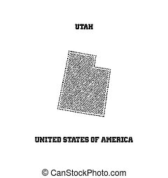 Label with map of utah.