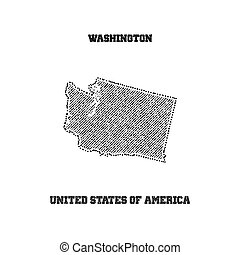 Label with map of washington.