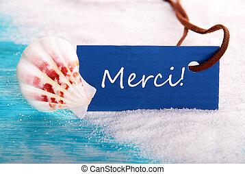 Label with Merci