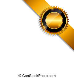 Label with Ribbon Isolated on White Background Vector Illustrati